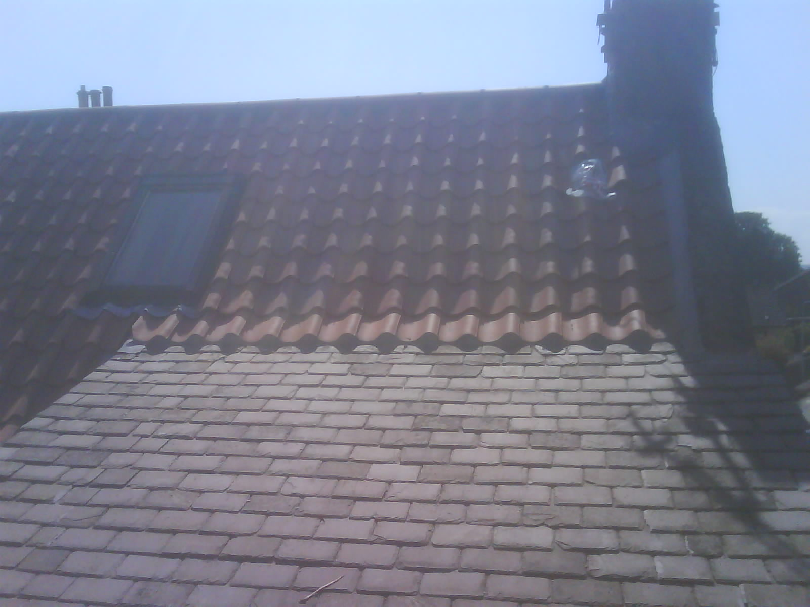Old english pan tiles with slate roof rear view.JPG